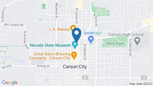 Hardman House Inn & Suites Map