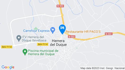 Hostal-Restaurante Paco's Map