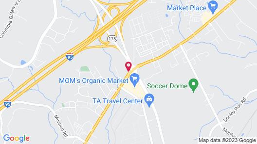 Holiday Inn Columbia East-Jessup, an IHG Hotel Map
