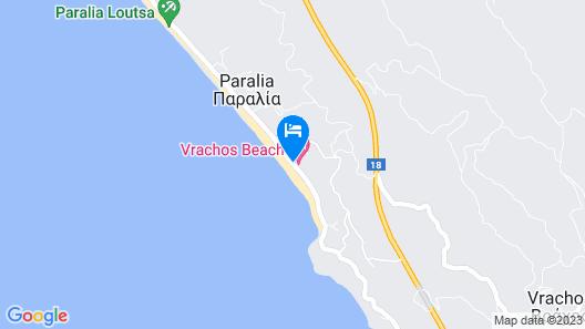 Hotel Loukas Vrachos Map