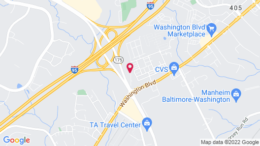 Comfort Suites Columbia Gateway Map