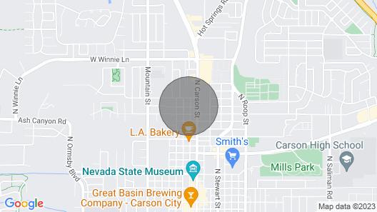 Renovated Carson City Duplex w/ Backyard & Patio Map