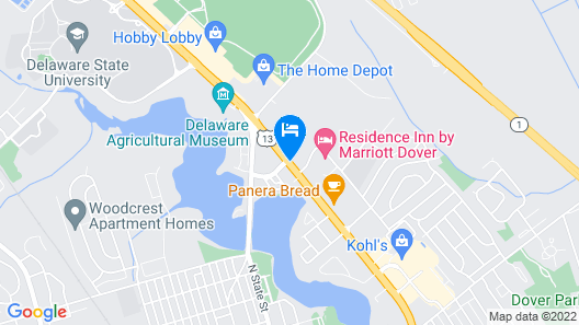 Fairfield Inn & Suites by Marriott Dover Map