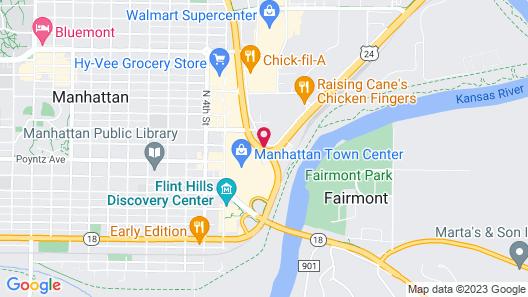 Super 8 by Wyndham Manhattan KS Map