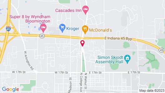 Hampton Inn Bloomington Map