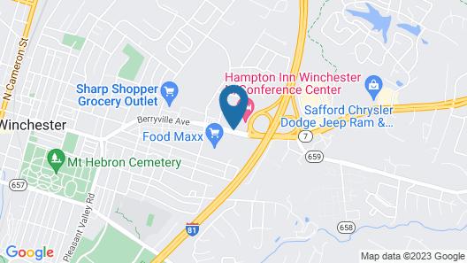Hampton Inn Winchester N/Conference Center, VA Map