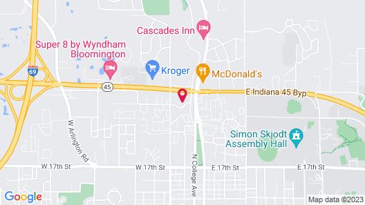 Comfort Inn Bloomington near University Map