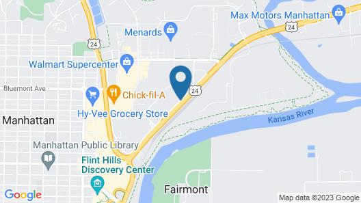 Hampton Inn Manhattan Map