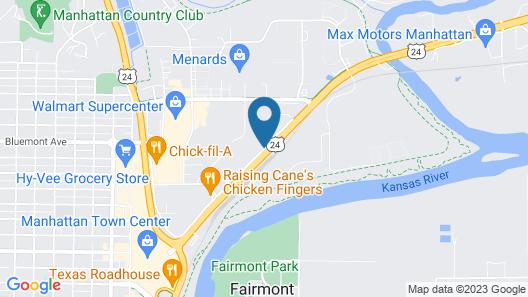Best Western Manhattan Inn Map