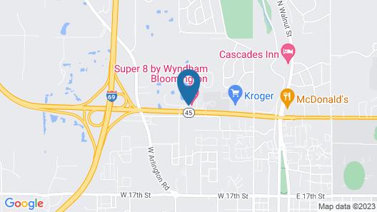 Super 8 by Wyndham Bloomington Map