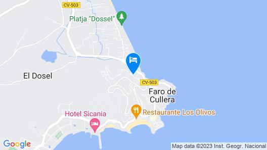 Beach Apartment Cullera Map
