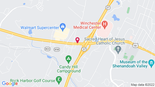 Courtyard by Marriott Winchester Map