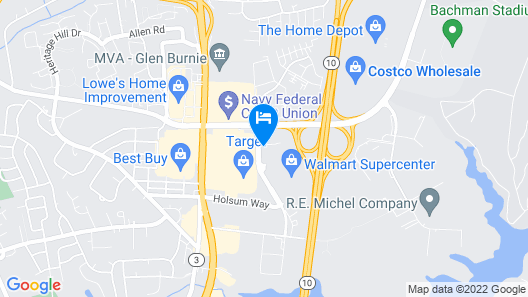 Extended Stay America Suites Baltimore Glen Burnie Map
