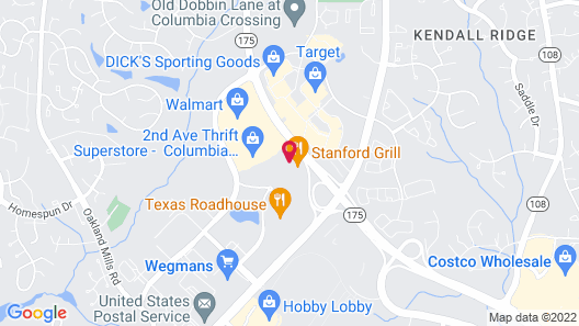Sonesta Select Columbia Map