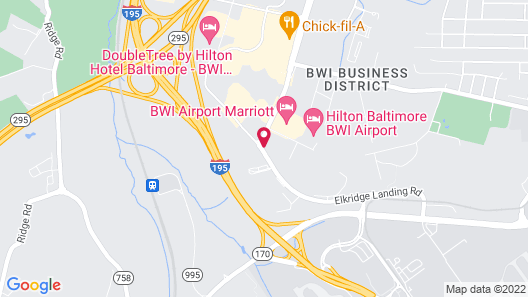 Holiday Inn Baltimore BWI Airport, an IHG Hotel Map