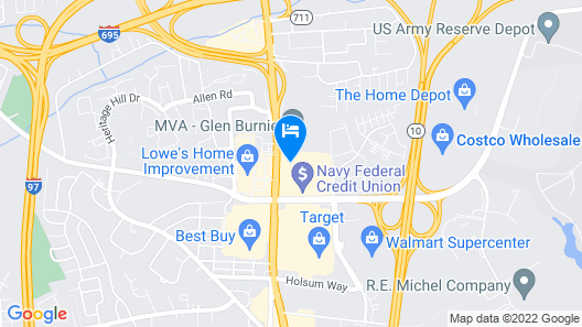 Hampton Inn Baltimore/Glen Burnie Map
