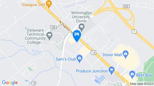 Hilton Garden Inn Dover Map