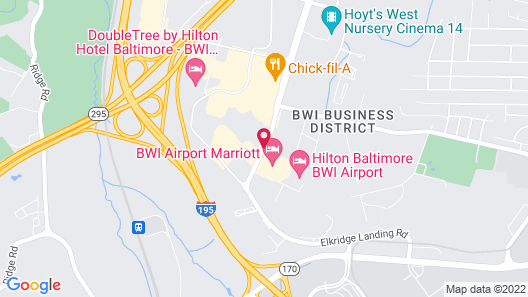 BWI Airport Marriott Map
