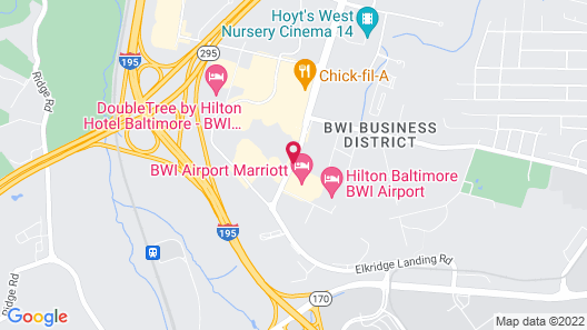 Aloft BWI Baltimore Washington International Airport Map