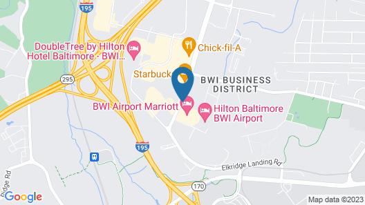 Hilton Baltimore BWI Airport Map