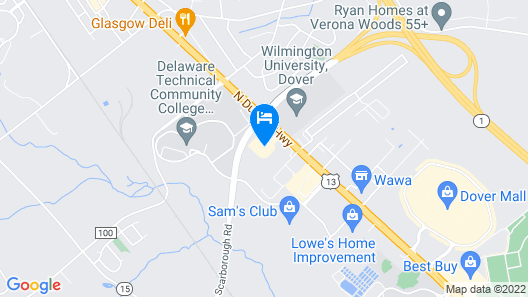 Holiday Inn Express Hotel & Suites Dover, an IHG Hotel Map