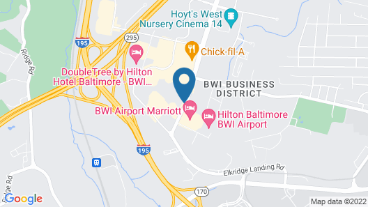 La Quinta Inn & Suites by Wyndham Baltimore BWI Airport Map
