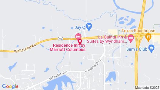 Residence Inn Columbus Map