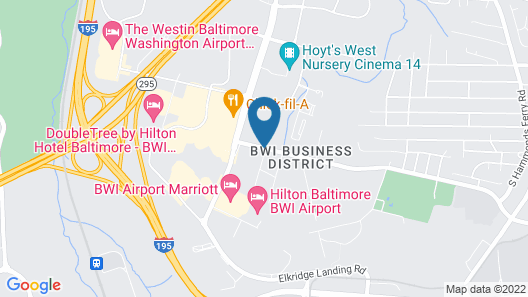 Fairfield Inn & Suites Baltimore BWI Airport Map