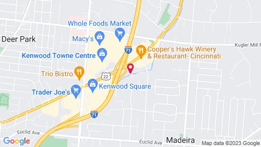 Hampton Inn & Suites Cincinnati / Kenwood Map