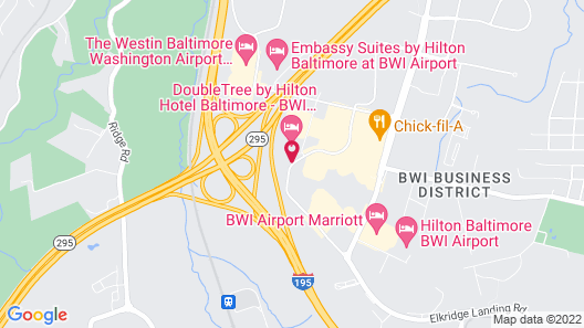 DoubleTree Hotel Baltimore - BWI Airport Map