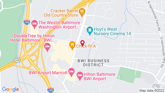 TownePlace Suites by Marriott Baltimore BWI Airport Map