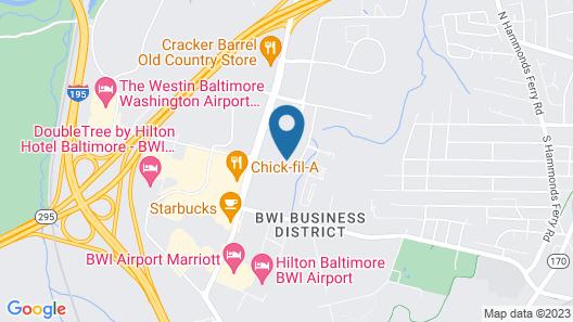 Sonesta ES Suites Baltimore BWI Airport Map