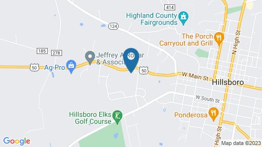 Paragon Inn Hillsboro Map