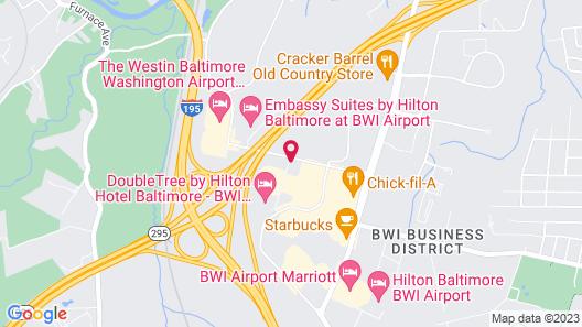 Sonesta Simply Suites Baltimore BWI Airport Map