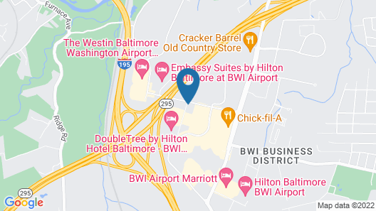 Sonesta Simply Suites Baltimore BWI Airport Map