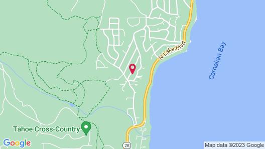 3816 Dinah Cabin at Carnelian Bay - 3 Br Cabin Map