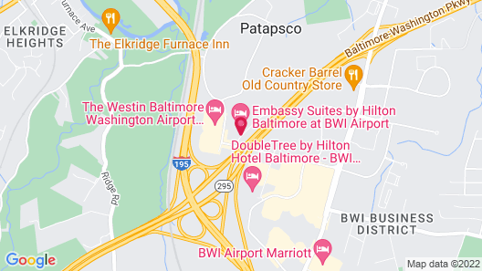Embassy Suites by Hilton Baltimore at BWI Airport Map