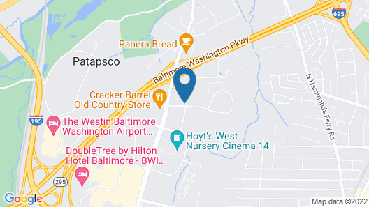 Hilton Garden Inn BWI Airport Map