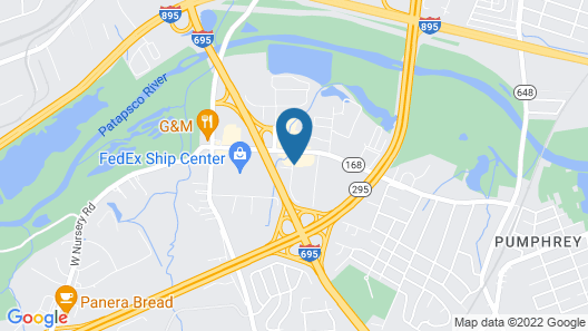 Motel 6 Linthicum Heights, MD - BWI Airport Map