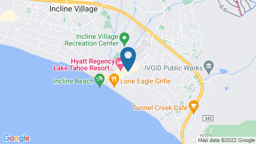 Hyatt Regency Lake Tahoe Resort, Spa and Casino Map