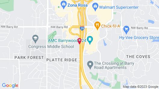 Motel 6 Kansas City, MO - Airport Map