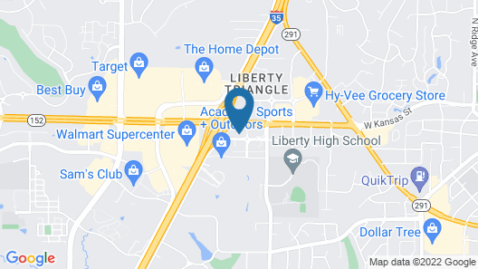 TownePlace Suites by Marriott Kansas City Liberty Map