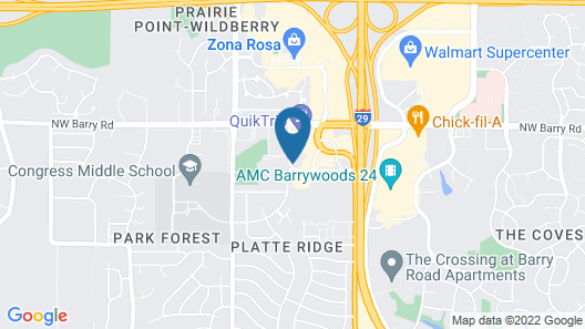 SpringHill Suites by Marriott Kansas City Northwest Map