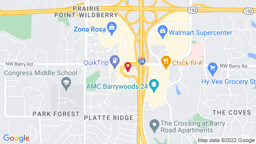 Super 8 by Wyndham Kansas City at Barry Road/Airport Map