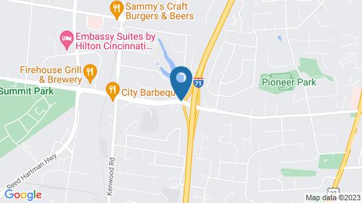 Red Roof Inn Cincinnati Northeast - Blue Ash Map