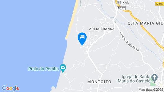 Ocean Front Luxury Villa, Pool, Tennis, Golf, Surf; Areia Branca, Lourinhã Map