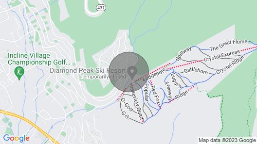 Spectacular Views of Diamond Peak Ski & Trails - Spacious & Modern Steps Away Map