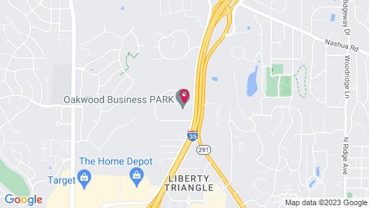 WoodSpring Suites Kansas City Liberty Map