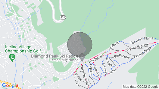 New! Incline Village Retreat: Walk to Diamond Peak Map