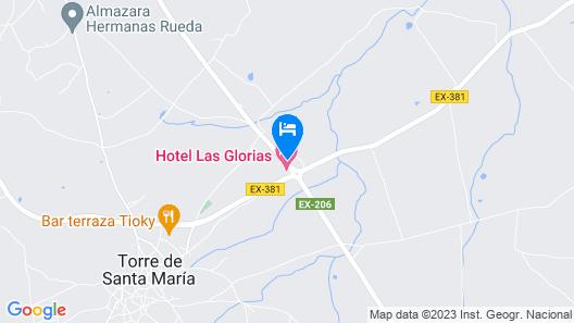 Las Glorias Map